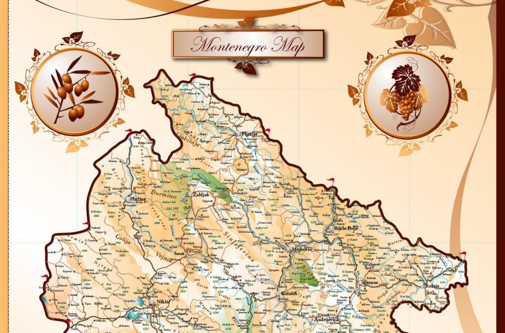 Mapa Crne Gore